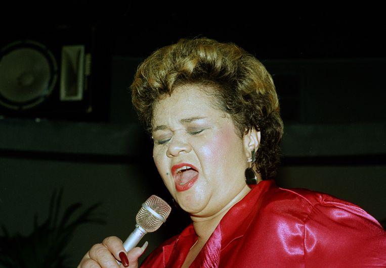 Etta James in 1987 Beeld ap