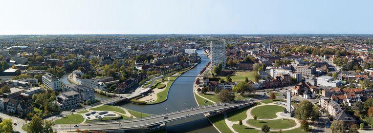 Liebaertshof ligt ook niet ver van onder de Groeningebrug en Budabeach