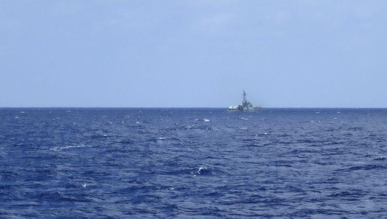 Een Chinees fregat op de Zuid-Chinese zee. Beeld reuters