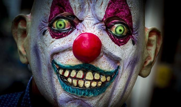 Het masker van een horrorclown. Foto: ANP