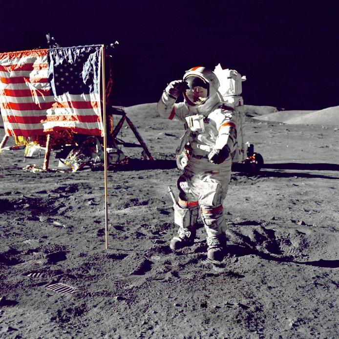 Neil Armstrong op de maan in 1969