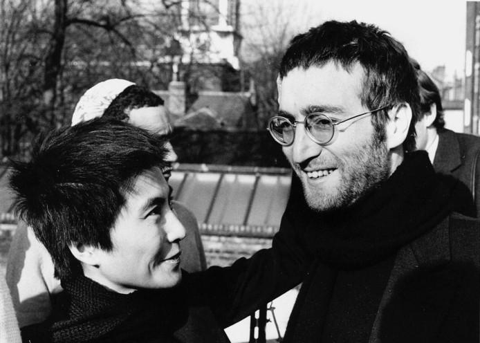 John Lennon en Yoko in 1970. Lennon overleed tien jaar later.