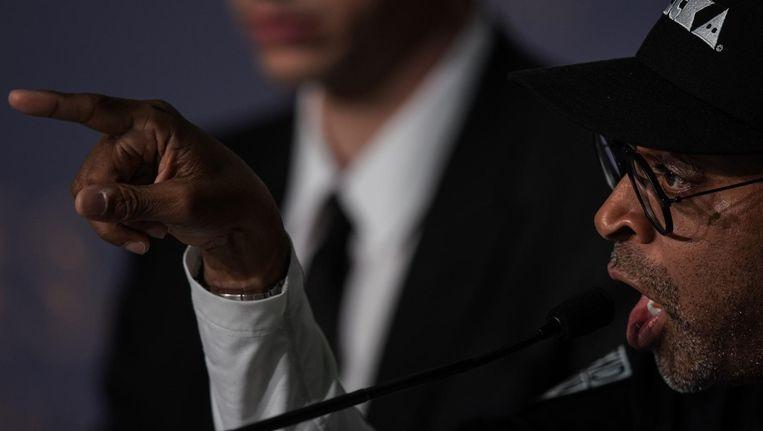 Regisseur Spike Lee tijdens een persconferentie in Cannes Beeld anp