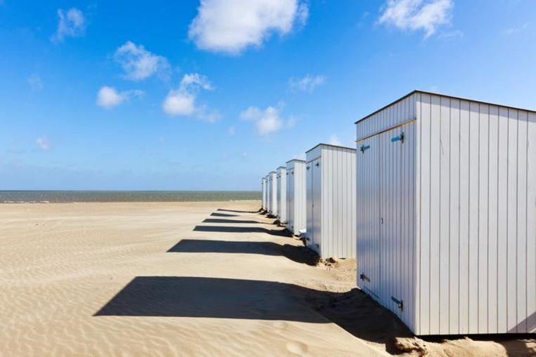 beach cabins at Knokke-Heist, Belgium