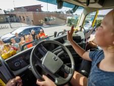 Kinderen Steenwijkerland ervaren  dode hoek vanuit vrachtwagen