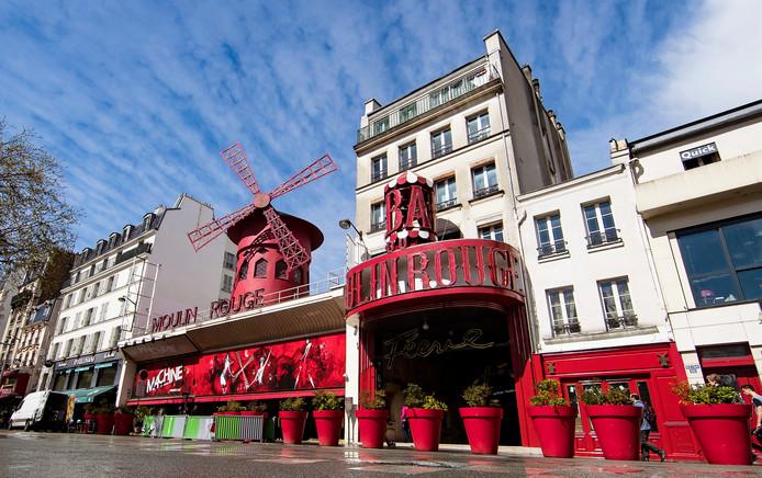 Moulin Rouge in Parijs, ontworpen door Eduard Niermans uit Enschede.