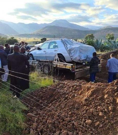 Zuid-Afrikaan begraven in zijn geliefde Mercedes