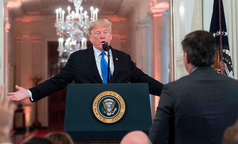 President Trump en CNN-jorunalist Jim Acosta raakten vorige week verwikkeld in een ruzie.