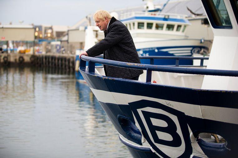Premier Boris Johnson bezocht september dit jaar Peterhead.  Beeld Getty
