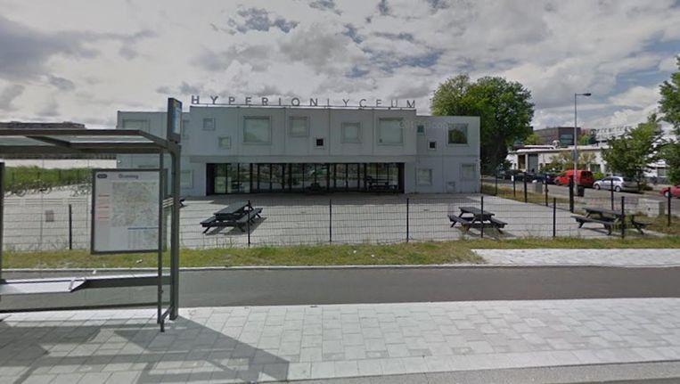 Het Hyperion Lyceum in Noord. Beeld Google Streetview