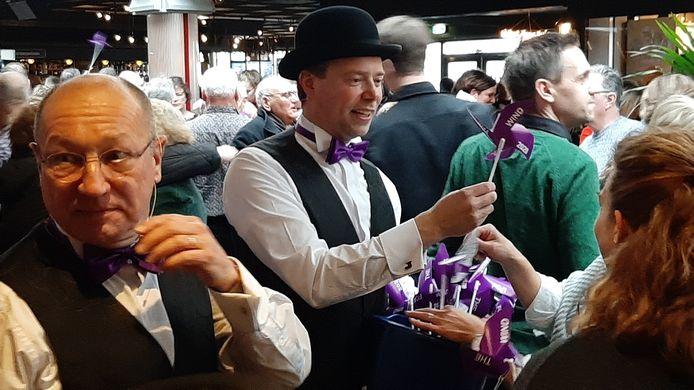 Leden van For Mineur tijdens de laatste nieuwjaarsontmoeting. Links Hans Alferink.