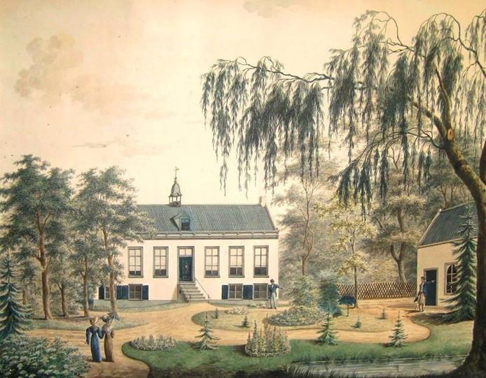 Een impressie van de oude villa Leeuwenstein.