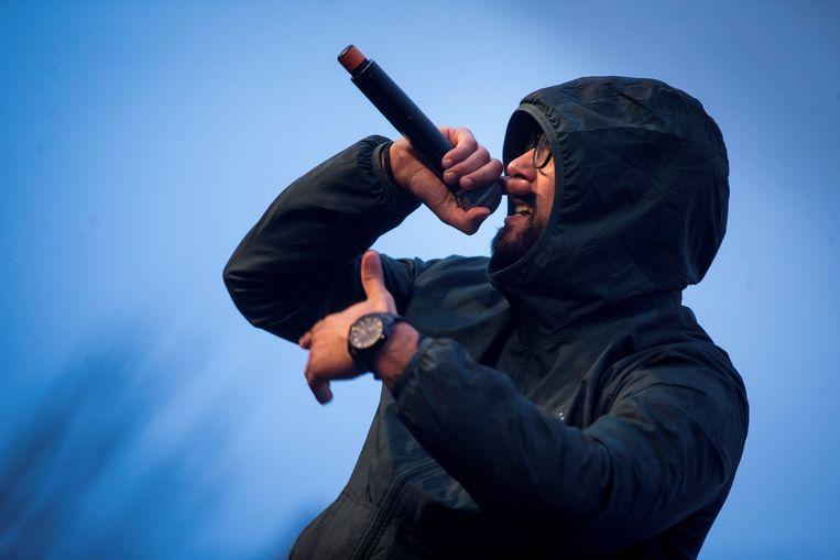 De Spaanse rapper Valtònyc. Beeld EPA