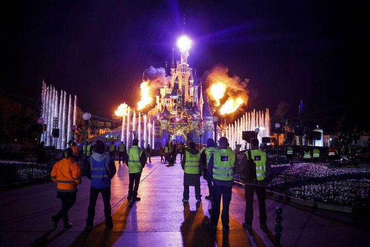 Archieffoto: in maart 2017 bestond Disneyland Parijs 25 jaar, wat leidde tot extra versieringen en vuurwerk.