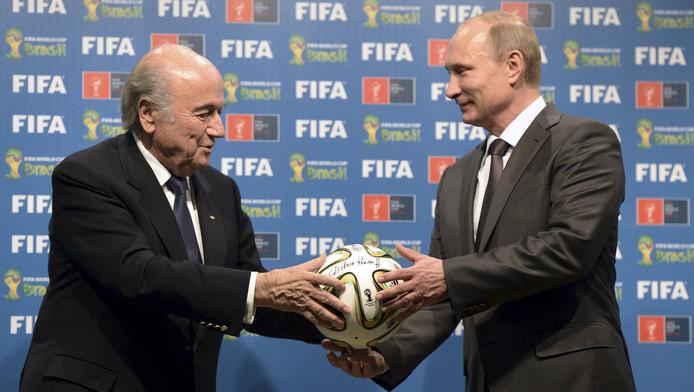 Sepp Blatter et Vladimir Poutine