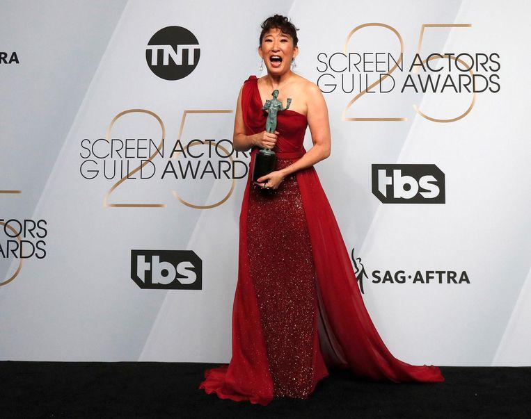 Sandra Oh won de prijs voor haar rol in Killing Eve Beeld anp