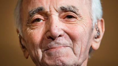 """Aznavour voor zijn laatste optreden in ons land in 2016: """"Ik ben van plan om minstens 123 te worden"""""""