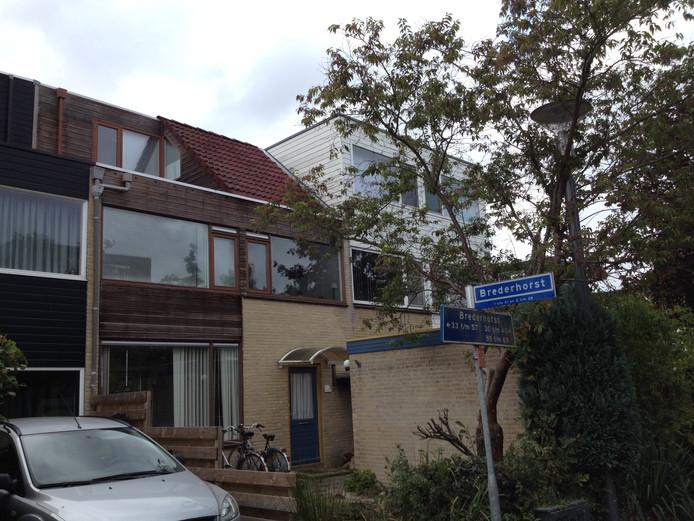 De woning aan de Brederhorst in Ede waar de gemeente kamerbewoning wil stoppen.