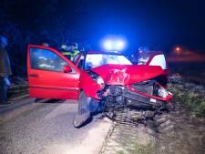 Auto botst bij Ommen tegen boom: chauffeur naar ziekenhuis