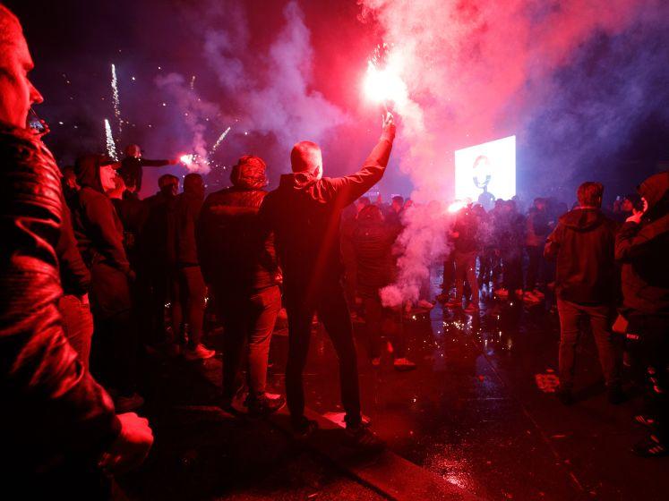 Van coronamaatregelen geen sprake bij fanzone Willem II