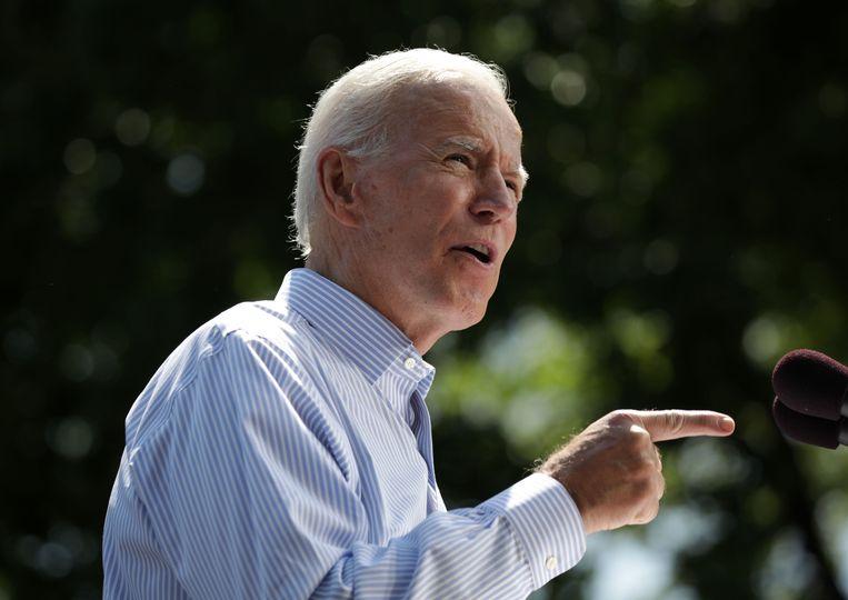 Joe Biden zou volgens de peilingen van Trump winnen in enkele belangrijke staten.
