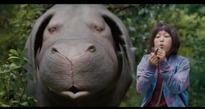 Een still uit de film Okja.