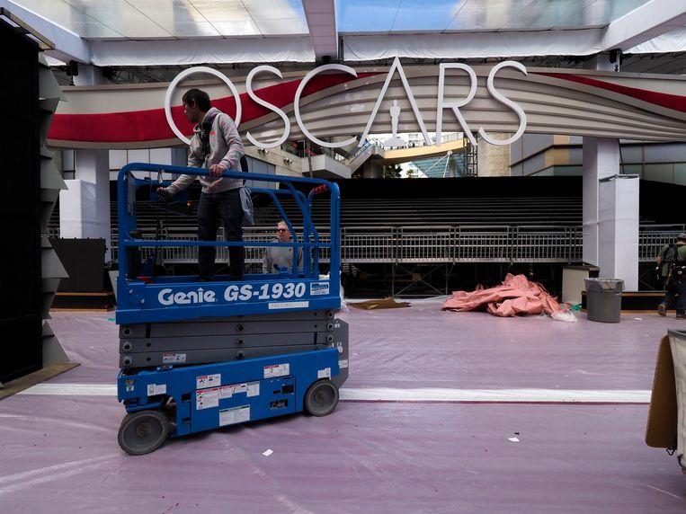 De opbouw van het Oscardecor is begonnen.