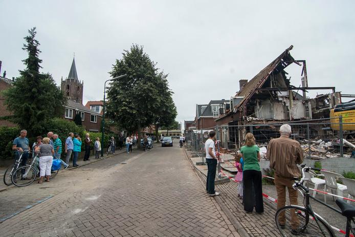Een kachelbrand in een nagelstudio had in de zomer van 2015 grote gevolgen in het Oude Dorp van Houten.