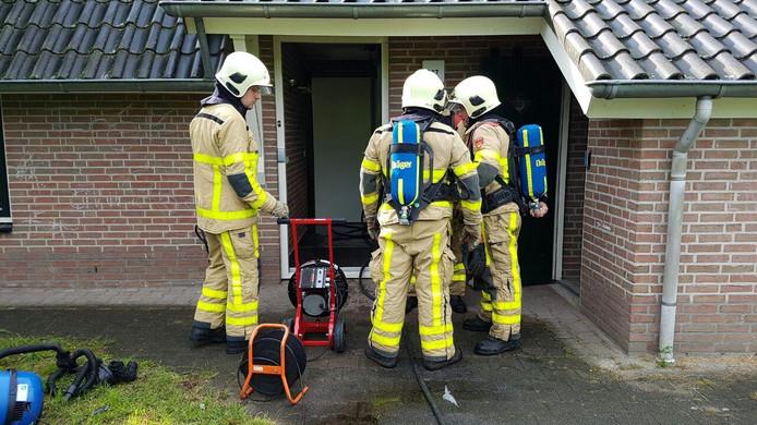 Brandweer bluste het brandje in de meterkast.