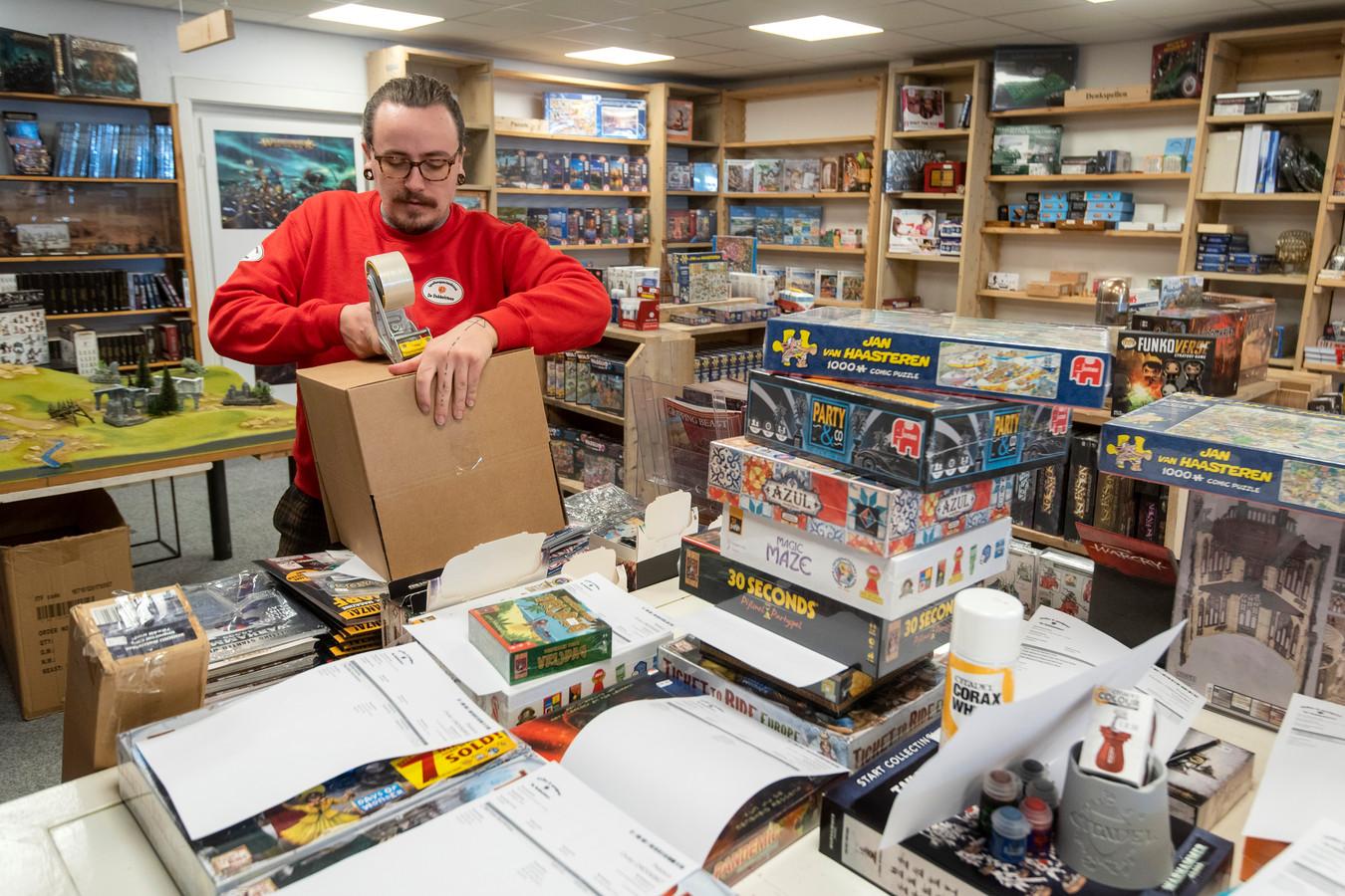 Jakim Spaander van speelgoedwinkel De Dobbelsteen.