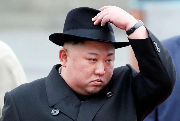 Kim Jong-un bij zijn aankomst in Vladivostok.
