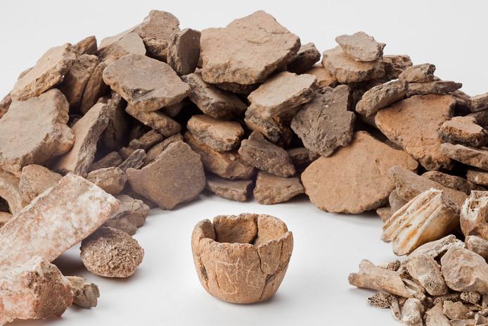 Het potje dat gevonden is in Lent.