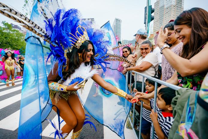 Deelnemers tijdens de Zomercarnaval Straatparade vorig jaar