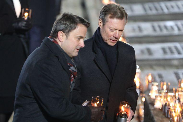 Luxemburgs premier Xavier Bettel en Groothertog Henri woonden deze week de 75ste verjaardag van de bevrijding van nazi-vernietigingskamp Auschwitz-Birkenau bij.