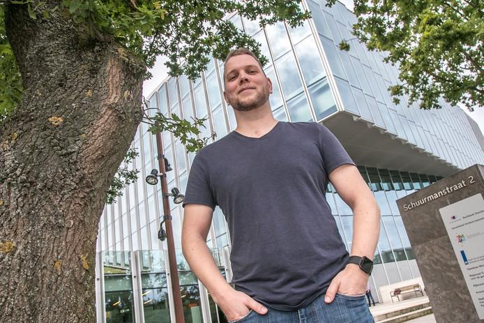 Martijn Marsman hoopte zijn naamgenoot gisteren te zien, maar die liet het afweten in de rechtbank.