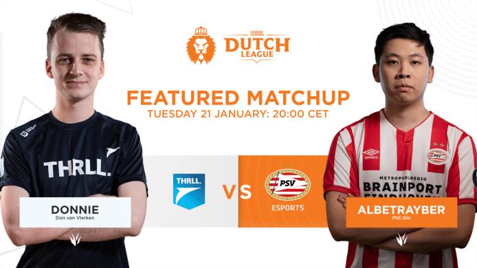 Nieuwkomers PSV Esports en Team THRLL nemen het vanavond tegen elkaar op in de Dutch League