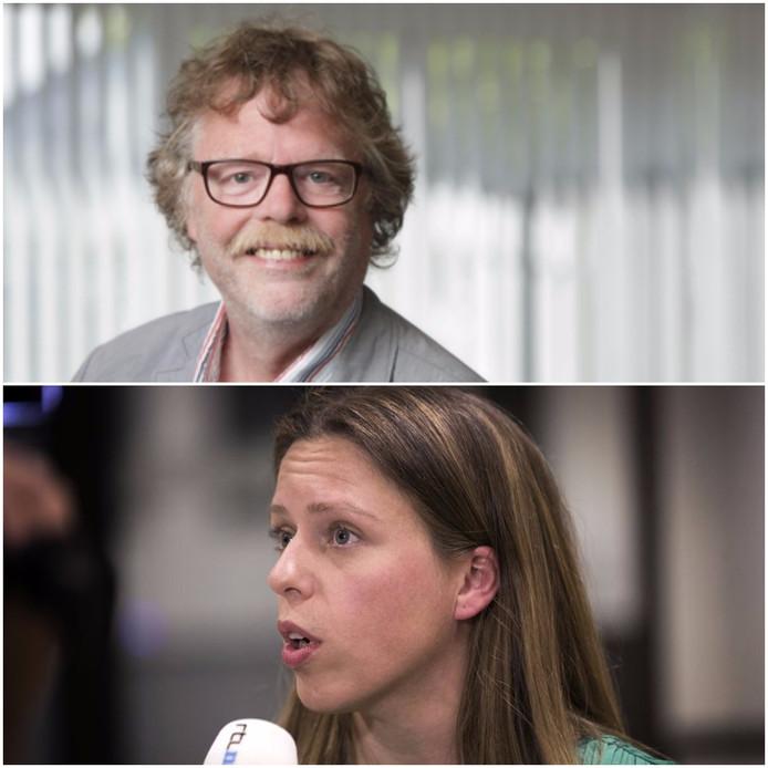 Hoogleraar Willem Bruil en minister Carola Schouten.