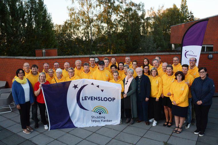 De organisatie van Levensloop mocht op het teambuildingsetentje ook de peter en meter van de editie 2018, acteur Tuur De Weerdt en actrice Danni Heylen, verwelkomen