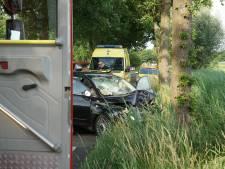 Auto rijdt tegen boom op weg in Sprang-Capelle: vier gewonden, van wie er twee ernstig