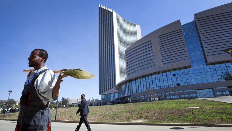 Het kantoor van de Afrikaanse Unie in Addis Abeba waar de VN deze zomer een bijeenkomst houden over de opvolger van de Millenniumdoelen, de Sustainable Development Goals. Beeld EPA