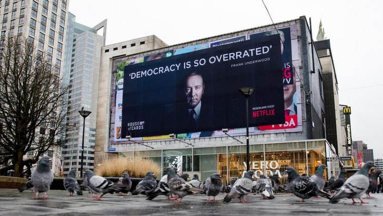 Een reclame-uiting van de serie in Rotterdam. Beeld anp