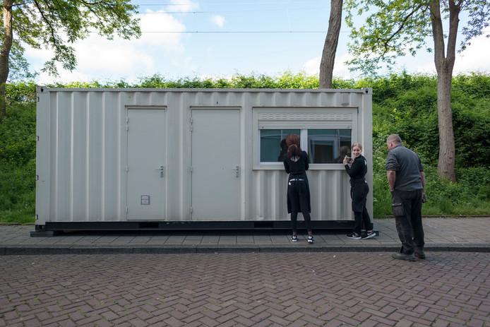 De container werd aangeboden voor 134 euro per nacht.