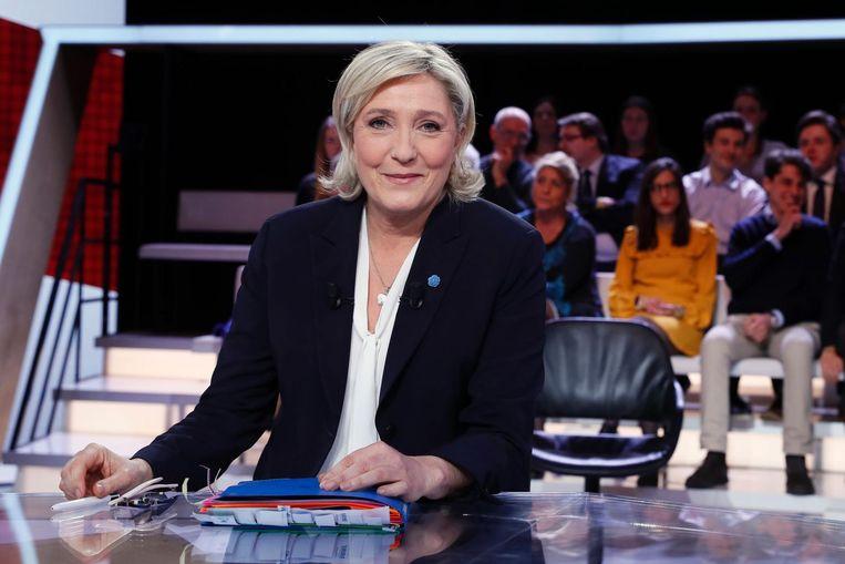 Marine Le Pen, leider van het Front National in Frankrijk Beeld afp