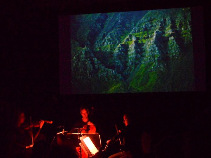 'Textures' met muziek en foto's van Merijn Bisschops was een van de hoogtepunten van November Music
