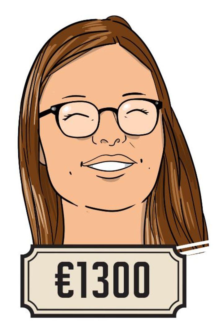 Eva zit nog op de middelbare school, maar heeft al haar eigen tekstbureau.