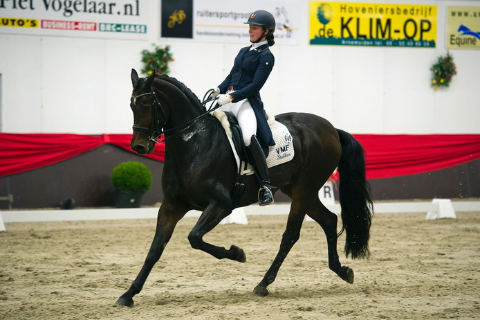 Stephanie de Frel met paard Zanyo.