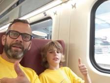 Kampioenschap treinreizen: Enzo (12) heeft er al 700 kilometer op zitten