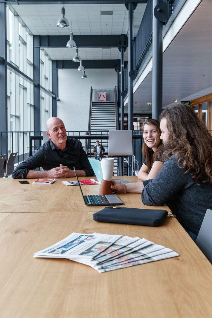 Op Avans Hogeschool in Breda coacht Cees Hogendoorn studenten in hun ondernemerschap.