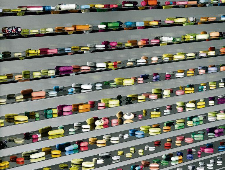 Installatie van de Britse kunstenaar Damien Hirst, genaamd Lullaby Spring. Beeld AFP