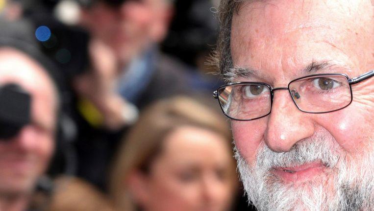 'De eenheid van Spanje is heilig', zei Rajoy al in 2015. Beeld ap